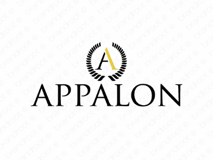 Appalon logo design included with business name and domain name, Appalon.com.