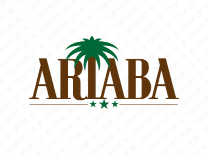 Ariaba logo design included with business name and domain name, Ariaba.com.