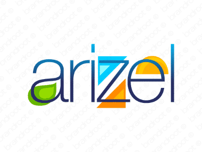 Arizel logo design included with business name and domain name, Arizel.com.