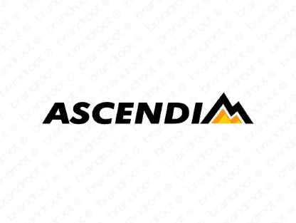 Ascendim logo design included with business name and domain name, Ascendim.com.