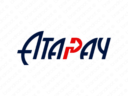 Atapay logo design included with business name and domain name, Atapay.com.