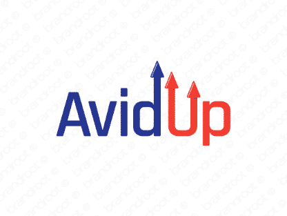 Avidup logo design included with business name and domain name, Avidup.com.