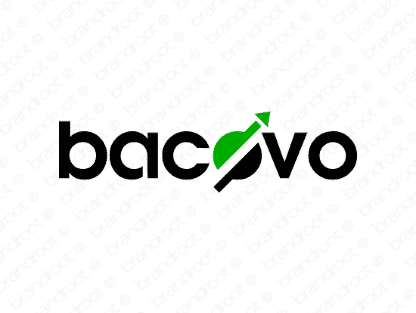 Bacovo logo design included with business name and domain name, Bacovo.com.