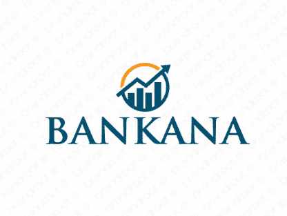 Bankana logo design included with business name and domain name, Bankana.com.