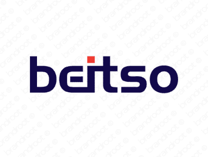 Beitso logo design included with business name and domain name, Beitso.com.