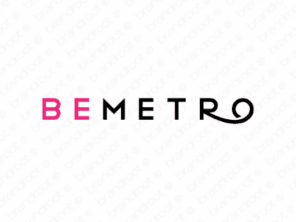 Bemetro logo design included with business name and domain name, Bemetro.com.