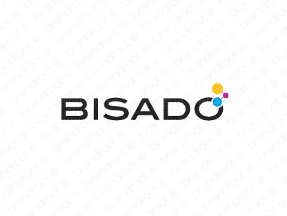 Bisado logo design included with business name and domain name, Bisado.com.