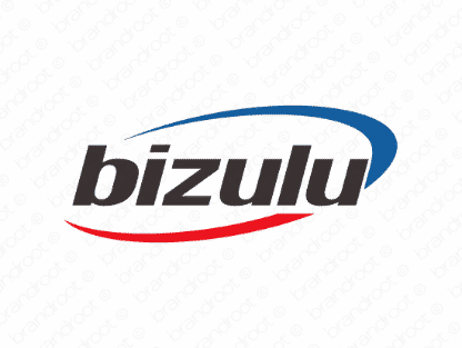 Bizulu logo design included with business name and domain name, Bizulu.com.