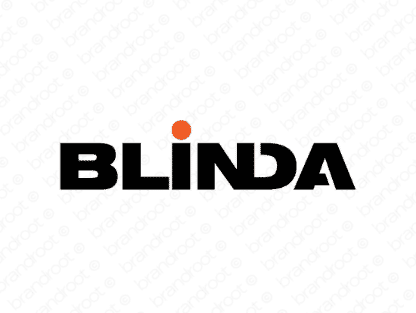 Blinda logo design included with business name and domain name, Blinda.com.