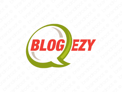 Blogezy logo design included with business name and domain name, Blogezy.com.
