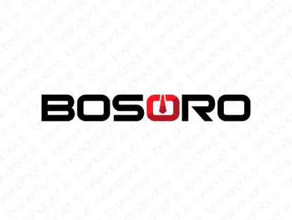 Bosoro logo design included with business name and domain name, Bosoro.com.
