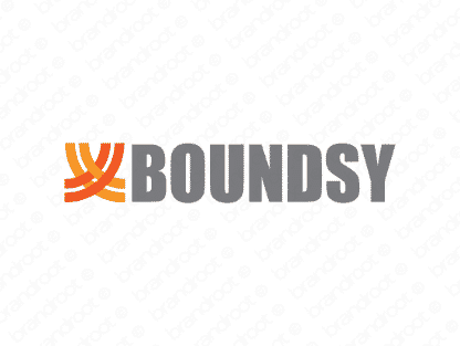 Boundsy logo design included with business name and domain name, Boundsy.com.