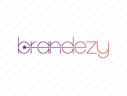 Brandezy logo design included with business name and domain name, Brandezy.com.