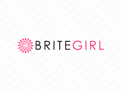 Britegirl logo design included with business name and domain name, Britegirl.com.