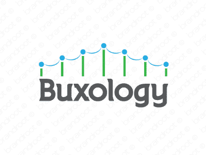 Buxology logo design included with business name and domain name, Buxology.com.