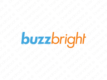 Buzzbright logo design included with business name and domain name, Buzzbright.com.