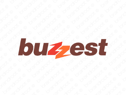 Buzzest logo design included with business name and domain name, Buzzest.com.