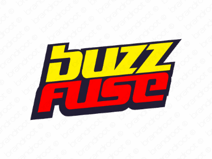 Buzzfuse logo design included with business name and domain name, Buzzfuse.com.