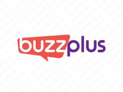 Buzzplus logo design included with business name and domain name, Buzzplus.com.