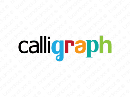 Calligraph logo design included with business name and domain name, Calligraph.com.