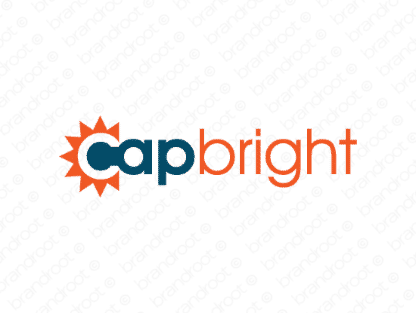 Capbright logo design included with business name and domain name, Capbright.com.