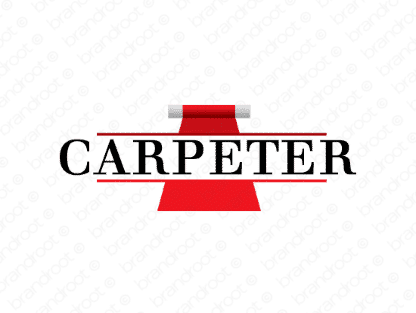 Carpeter logo design included with business name and domain name, Carpeter.com.