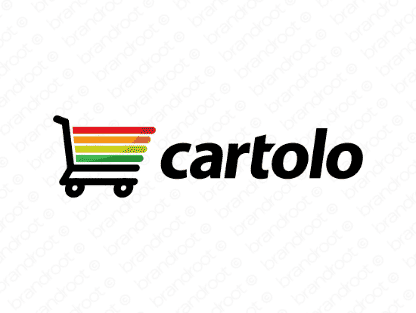 Cartolo logo design included with business name and domain name, Cartolo.com.