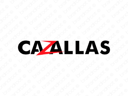 Cazallas logo design included with business name and domain name, Cazallas.com.