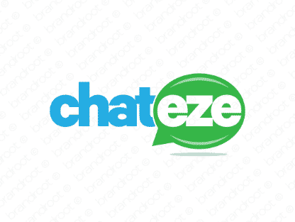 Chateze logo design included with business name and domain name, Chateze.com.