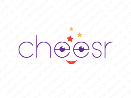 Cheesr logo design included with business name and domain name, Cheesr.com.