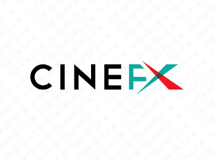 Cinefx logo design included with business name and domain name, Cinefx.com.