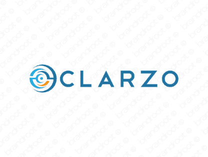 Clarzo logo design included with business name and domain name, Clarzo.com.