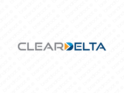 Cleardelta logo design included with business name and domain name, Cleardelta.com.