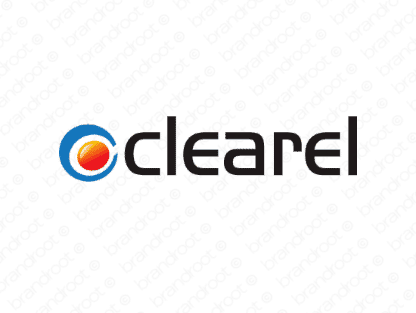 Clearel logo design included with business name and domain name, Clearel.com.
