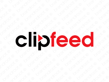 Clipfeed logo design included with business name and domain name, Clipfeed.com.