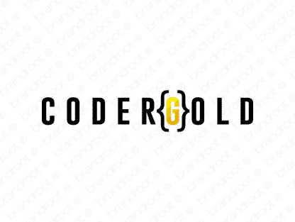 Codergold logo design included with business name and domain name, Codergold.com.