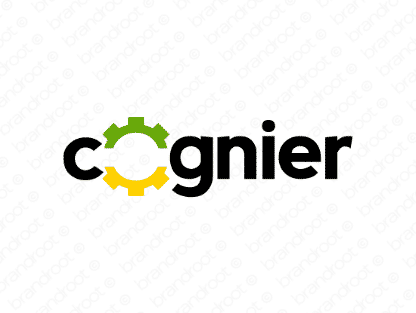 Cognier logo design included with business name and domain name, Cognier.com.