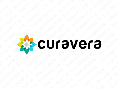 Curavera logo design included with business name and domain name, Curavera.com.