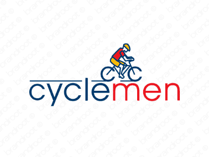 Cyclemen logo design included with business name and domain name, Cyclemen.com.