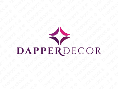 Dapperdecor logo design included with business name and domain name, Dapperdecor.com.