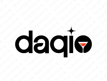 Daqio logo design included with business name and domain name, Daqio.com.