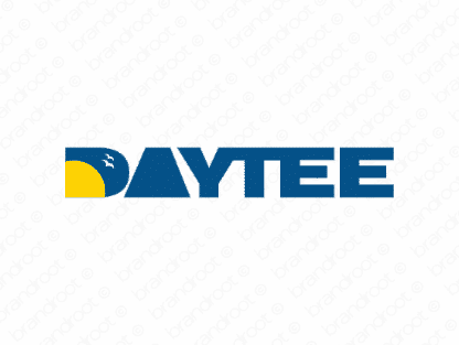 Daytee logo design included with business name and domain name, Daytee.com.