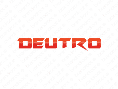 Deutro logo design included with business name and domain name, Deutro.com.