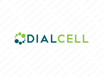 Dialcell logo design included with business name and domain name, Dialcell.com.