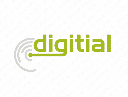Digitial logo design included with business name and domain name, Digitial.com.