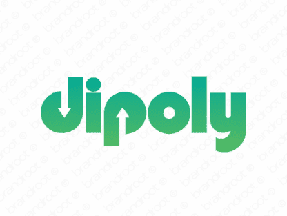 Dipoly logo design included with business name and domain name, Dipoly.com.