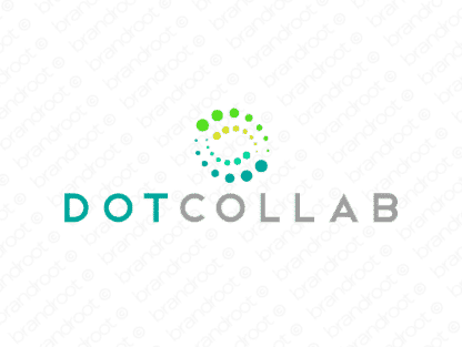 Dotcollab logo design included with business name and domain name, Dotcollab.com.