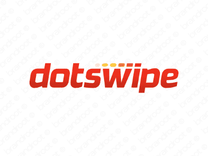 Dotswipe logo design included with business name and domain name, Dotswipe.com.