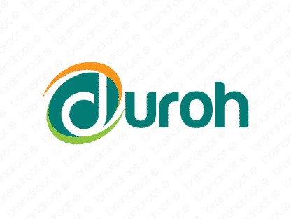 Duroh logo design included with business name and domain name, Duroh.com.