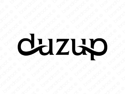 Duzup logo design included with business name and domain name, Duzup.com.